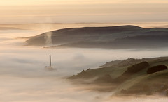 Misty Hope Valley 2 (Snap Tin) Tags: hope hopevalley cementworks mist misty sunrise hopecementworks morning dawn september serene landscape derbyshire sony alpha fog chimney smoke a77 peakdistrict hills