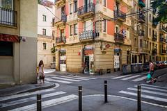 Barceloneta,  High Noon (iovivo) Tags: barcelona barceloneta barrio heat summer noon street leica