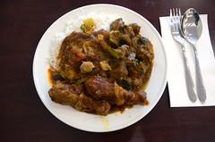 Ayam masak merah, kari kambing, dhal, basmati rice AUD12 - Melbourne Wok (avlxyz) Tags: curry rice mutton lamb kambing kari nasi basmati ayam chicken