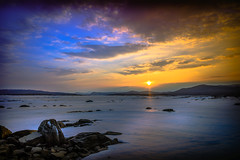 Jimmy Westerberg Photography (jimmy.westerberg) Tags: summer water sky sunset landscape skyline colors colours saturation saturated beautiful sweden explore outdoor serene shore dusk cloud clouds cloudscape bright sunshine evening beach sea night seaside mountains mountain