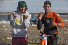 Alex Mussolini (E-30) and Thomas Traversa (F-3) (Cold Hawaii World Cup) Tags: action alexmussolini coldhawaii day6 denmark klitmller netipcoldhawaiipwaworldcup2016 northsea pwa pwaworldcup thomastraversa windsurfing