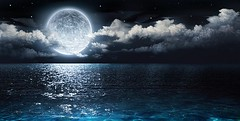 romantic and scenic panorama with full moon on sea to night (Jilsara Farias) Tags: azure background beautiful black blue bright calm clouds dark depth dreamy fantasy full fullmoon glowing horizon lagoon light magic midnight moon moonlight nature night ocean reflection romance romantic scenic sea seascape shine sky stars super tranquil transparent water wave