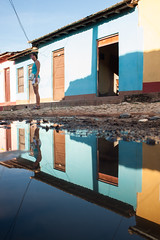 Trinidad reflections (PaulHoo) Tags: cuba water trinidad city unesco heritage reflection color colour house building light shadow illuminated summer 2015