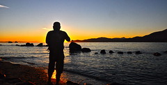 This guy (kristinkarmella) Tags: vancouver vancity sillouette beach