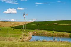 Windmill (nikons4me) Tags: iowa ia windmill nikond200 nikonafsdx18200mmf3556gifedvr pond