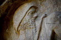Akkadian Naram-Sin Rock Relief (Sumer and Akkad!) Tags: naramsin naramsuen naramseun iraq akkad akkadianperiod mesopotamia lulubi rockrelief relief
