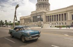 Cuba - Blue Capitol (chrisbastian44) Tags: cuba cuban cubanpeople havana habana vsco replichrome people oldcars communist communism