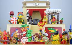 The Final Duel Of Tlahuicole (Cuahchic) Tags: lego foitsop aztecs mesoamerica temple duel minifig eaglewarrior