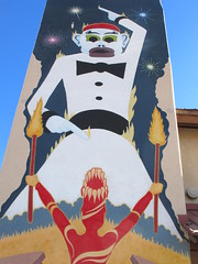 Zozobra (Coloredwalls) Tags: zozobra firedancer fiestas wall paint tag art mural graffiti canon colors santafe newmexico oldman gloom