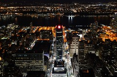 New York - The city that never sleeps (ciccioetneo) Tags: nyc newyorkcity usa newyork buildings cityscape nightshot unitedstatesofamerica empirestatebuilding nikkor notturno bottomview nikkor1855mmvr d7000 nikond7000 ciccioetneo