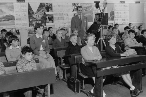 Teacher shows film to classroom, Grade 3 by Public Record Office Victoria, on Flickr