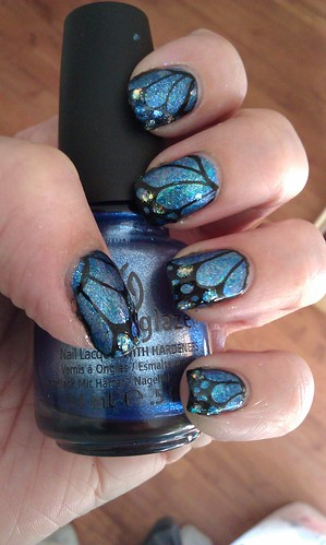 butterfly nails! :)