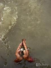 Tarpan....DSC_05074 (subirbasak) Tags: india water hands ring offer offering ritual kolkata ganges tarpan westbengal bestow indiaphoto subirbasak handcupped subirbasakorgfreecom traditionalritualofindia gettyimagesindia