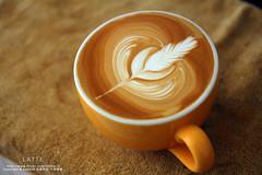 LATTE (nodie26) Tags: art cup water coffee hearts leaf cafe heart tea drink espresso latte