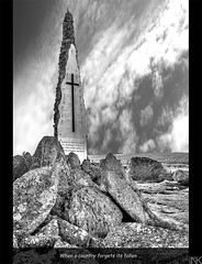 When a country forgets its fallen... (Nikos O'Nick) Tags: bw mountain monument nikon rocks country nikos greece fallen soldiers inscription kastoria verno vitsi d300s καστοριά βίτσι kotanidis
