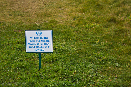 Beware errant golf balls