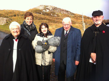 BBC Radio Scotland presenter Anna Magnusson at Cove, following the pre-recording of the Remembrance Day Service.