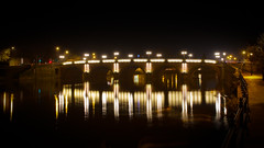 Worcester Bridge (MAC-Photography.co.uk) Tags: longexposure bridge canon reflections river eos nightshot sigma severn worcester 2470mm 5dmkiii
