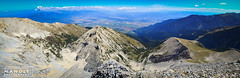 View from Pirin Mountains - Bulgaria (Mihai Sebastian Manole) Tags: city travel light summer panorama mountains bird eye canon high rocks view natural hiking stones pano altitude ngc climbing bulgaria peaks height munti pirin 1635mm inaltime varfuri