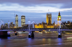 Panoramic London Night..... (german_long) Tags: inglaterra england london thames bigben londres bluehour parlament tmesis thebluehour horaazul londonparlament