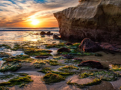 Light Show Sunset Cliffs (mojo2u) Tags: ocean california sunset sandiego oceanbeach seagrass sunsetcliffs pointloma nikond700 cormorantrock nikon28300mm