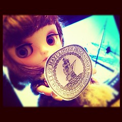 "75.365: HC~""Proud to be!"" (#blytheadaynovember 11/14.Mayflower) (daisyannesmile (trying to get settled from the big) Tags: square squareformat blythe custom actual mayflower blythedoll 1114 milkandhoney middie honeycrisp descendants vainilladolly daisyannesmile iphoneography instagramapp uploaded:by=instagram blytheadaynovember"