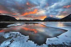 A sunrise sensation (VictorLiu Photography) Tags: sunrise day cloudy banff vermilionlakes