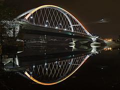 All Hallow's Eve - The New Lowery Ave Bridge.... (PI Fotog) Tags: zeiss reflections minneapolis mississippiriver ledlights distagont235 top20bridges lowryavebridge nikond800e