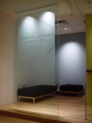 Interior Corporate Identity Signage on Glass
