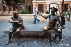 Don Quijote y Sancho Panza (machbel) Tags: madrid banco caminar estatua seor alcaldehenares minubetrip