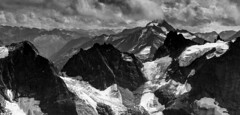 from Titlis_ 3.238 m. (Ercan Akkaya) Tags: bw alps berg clouds landscape schweiz switzerland blackwhite berge alpen landschaften dieschweiz blackwhitephotos sigma50mmf14dgex dielandschaft