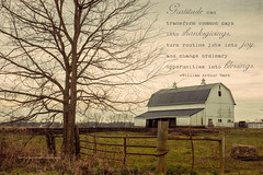 Thanksgivings, Joy, Blessings (Singing Like Cicadas) Tags: november ohio barn rural word landscape outdoors countryside quote farm text textures processing mountvernon 2012 knoxcounty ruralohio nikond90 kimklassen onethousandgifts