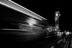 Thru A speeding Window (Dhowayan (Abu Yara)) Tags: longexposure bw london bigben d90