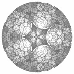 Star Circle Packing (fdecomite) Tags: circle packing chain math gasket steiner tangency apollonian apollonius porism