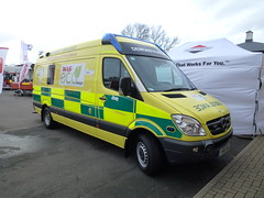 YR61WNE (Emergency_Vehicles) Tags: show park uk ess was mercedes benz ambulance service emergency 2012 demonstrator sprinter stoneleigh wne yr61 yr61wne