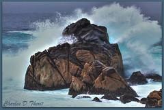 Big Splash at Point Lobos SNR (ctofcsco) Tags: ocean california usa seascape rock america canon landscape landscapes is surf cityscape unitedstates tide explore telephoto carmel northamerica usm scape hdr 100400mm 50d ef100400mmf4556lisusm ef100400mm singleimagehdr f4556l