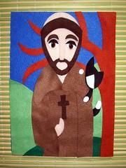 Work in Progress (edilmarasantiago) Tags: felt feltro decorao santo painel sofrancisco fieltro pan edilmarasantiago santofeltro