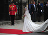 Catherine Middleton arriving with her father Michael Middleton