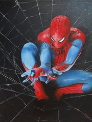 Spiderman -olio su tela- cm 40x50