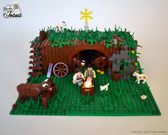 The stable section (Viktor-Persson) Tags: horse cat joseph star cow christ lego mary jesus goat owl manger bible stable nativity nativityscene thebible thebirthofjesus