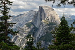 Half Dome and clouds (Images by John 'K') Tags: california park nationalpark yosemite dome halfdome yosemitenationalpark glacierpoint johnk d7000 johnkrzesinski randomok