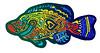 zentangle texture fish (geoncox) Tags: fish pen ink tropical zentangle