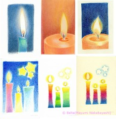 2012_12_01_candles_04 (blue_belta) Tags: christmas art sketch candle drawing  coloredpencil
