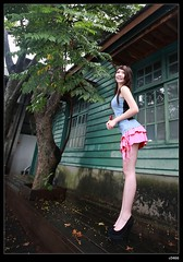 nEO_IMG__MG_9275 (c0466art) Tags: show light portrait baby cute girl face female canon asia long pretty legs sweet outdoor good taiwan skirt short figure 5d feeling lovely activity  c0466art