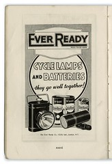 EVER READY 1950 (zombikombi1959) Tags: light lamp bike bicycle cycling ride battery torch cycle advert manual 1950 advertisment handbook everready