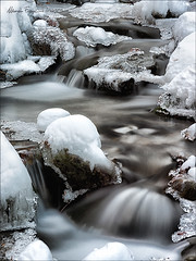 Jewels in the stream (Arunte) Tags: winter italy mountain snow mountains ice river nikon stream italia hiking tuscany neve mountaineering toscana montagna appennino d800 ghiaccio torrente vallombrosa apennines marcofrancini arunte marcofranciniphotography