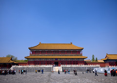 Forbidden City, Beijing, China (Eric Lafforgue) Tags: china travel people color colour history monument horizontal architecture composition outside person photography gate asia day image outdoor beijing bluesky nobody unesco communism copyspace forbiddencity tiananmensquare majestic groupofpeople clearsky buildingfront worldheritage eastasia pekin capitalcity realpeople colorimage diminishingperspective famousplace buildingfeature northeastchina buildingexterior colorpicture placeofinterest chinesescript internationallandmark traveldestination imagetype hebeiprovince beijingprovince builtstructure mg0303 traditionallychinese groupofpersons