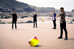 The Attraction (Elliot Tratt) Tags: music men art beach canon eos sand cornwall artistic band have bands cube arrive beaches 5d attract they concept sands 2016 5dm2