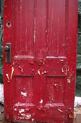 2016_0720The-Old-Red-Door0001 (maineman152 (Lou)) Tags: found used restore giveaway salvage freestuff olddoor refinish olddoors tearingdown westpond recyclereuse buildingteardown useddoors