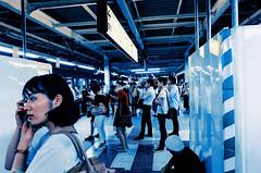 Day 201/366 : Waiting for the last train (hidesax) Tags: day201366 1132pminshinjuku todays shot platform station lasttrain waitingforthelasttrain shinjuku tokyo japan hidesax leica x vario 366project2016 366project 365project